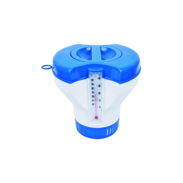 Dispenser Galleggiante Universale Avenli con Termometro per Piscine Fuoriterra