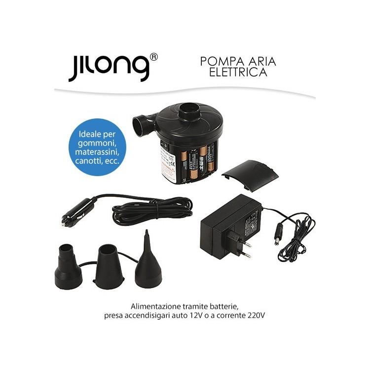 Pompa Elettrica Jilong 3 way alimentabile a 12v a Batterie o tramite rete elettrica