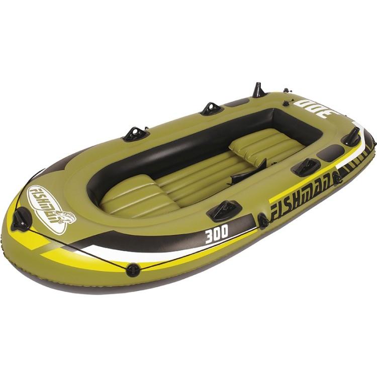 Gommone Tender Canotto Cm 252x125 Gonfiabile Remi Inclusi Motorizzabile Jilong Fishman 300