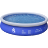 Piscina Fuoriterra Rotonda Cm 450x90 Gonfiabile Autoportante Blu Jilong con Pompa Filtro, Scala e Teli