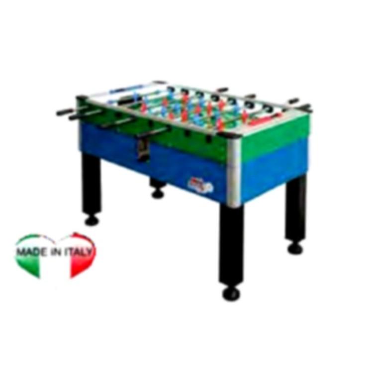Calciobalilla Biliardino Calcetto Roberto Sport NEW CAMP GAMBE FERRO Verde Azzurro