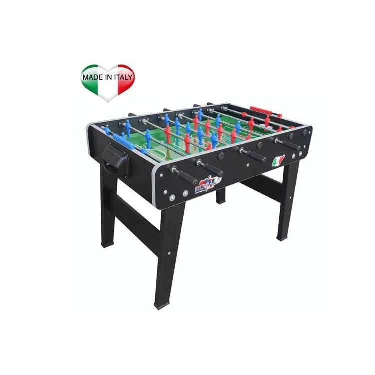 Calciobalilla Biliardino Calcetto Roberto Sport SCOUT Nero Aste Rientranti da Interno