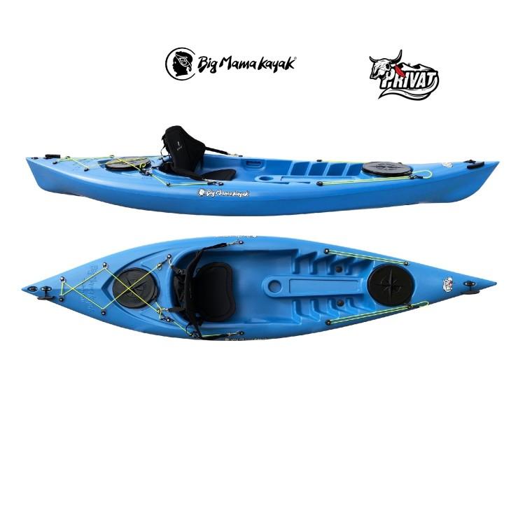 Canoa Rigida Privat Big Mama Kayak da 295cm con 2 Gavoni Vari Colori Disponibili