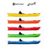 Canoa Rigida Acquaprima Big Mama Kayak da 310cm con 2 Gavoni Vari Colori Disponibili