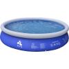 Piscina Fuoriterra Rotonda Cm 450x106 Gonfiabile Autoportante Blu Jilong con Pompa Filtro, Scala e Teli