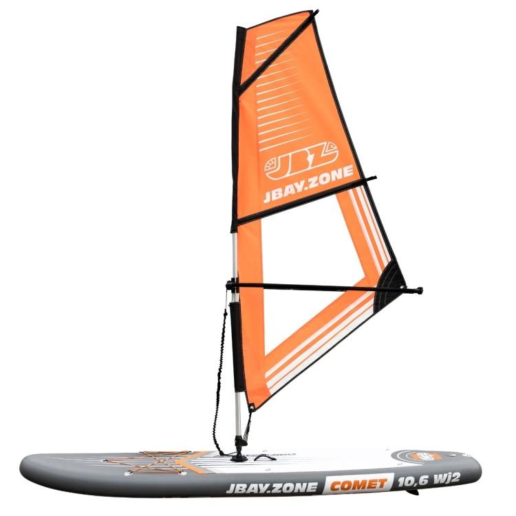Tavola Stand Up Paddle Gonfiabile SUP JBAY.ZONE COMET WIND SUP WJ2 da Cm 320x81x15 Windsurfing SUP Board SET con Vela in PVC