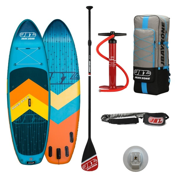 Tavola Stand Up Paddle SUP Gonfiabile JBAY.ZONE RIVER Y1 9'6'' Cm 290x89x15 River Sup Board
