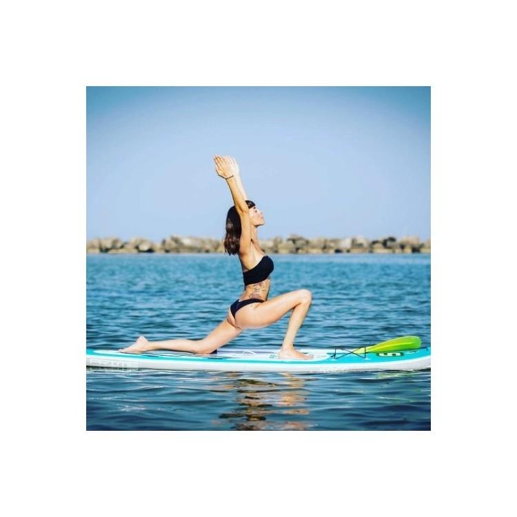 Tavola Stand Up Paddle SUP Gonfiabile SAFE FLORA 9'6' Cm 290x81x12 Fitness Yoga Wave Board