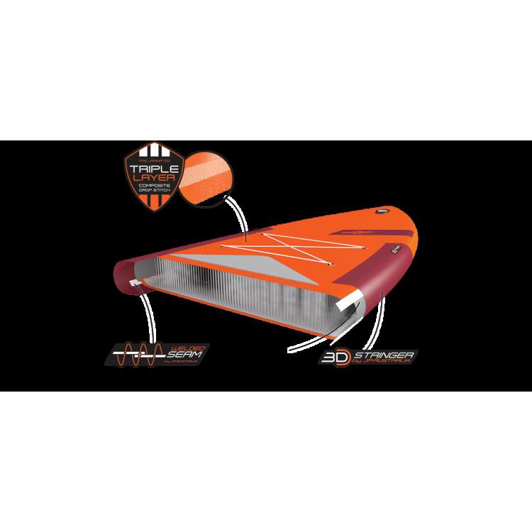"Tavola Stand Up Paddle SUP Gonfiabile JP-AUSTRALIA ""MONSTAIR SE 3DS"" 17'0"" Cm 518x165x15 Multi Person Board Big SUP"