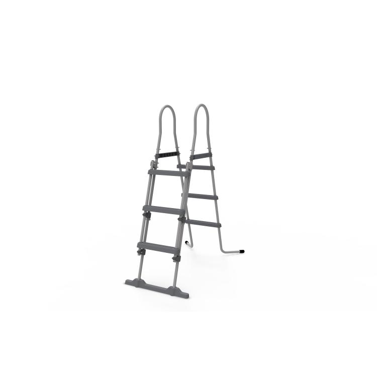 Piscina Fuoriterra con Struttura Ovale 427x275x100 cm Steel Frame Jleisure marrone Pompa Filtro e Scala inclusi