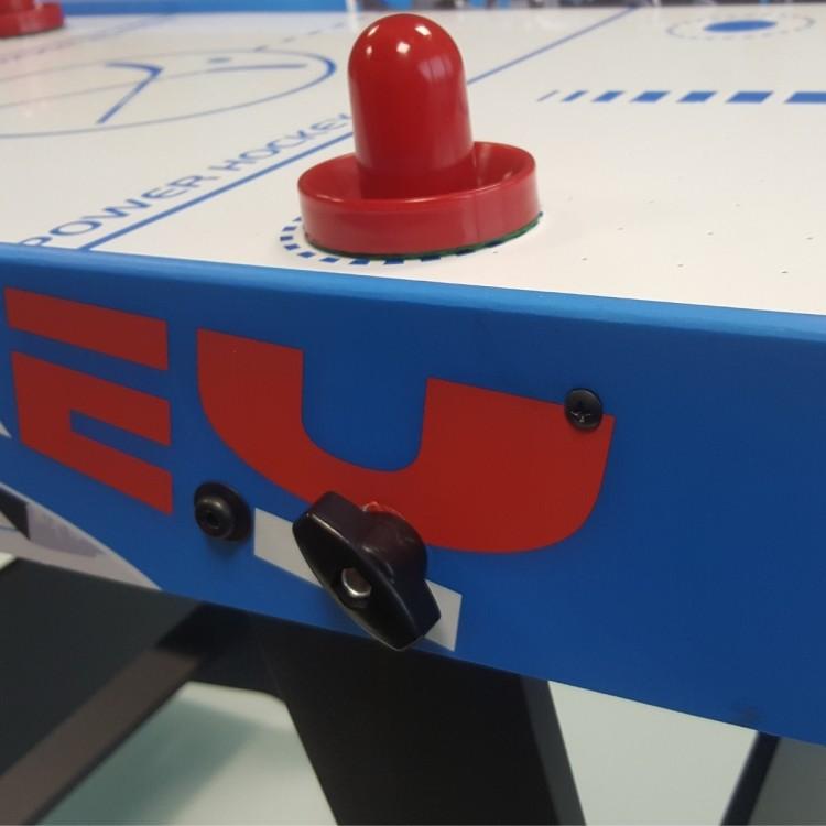 Tavolo Air Hockey Moko Salvaspazio Verticale per Bambini con Ventola e Accessori cm 89x48