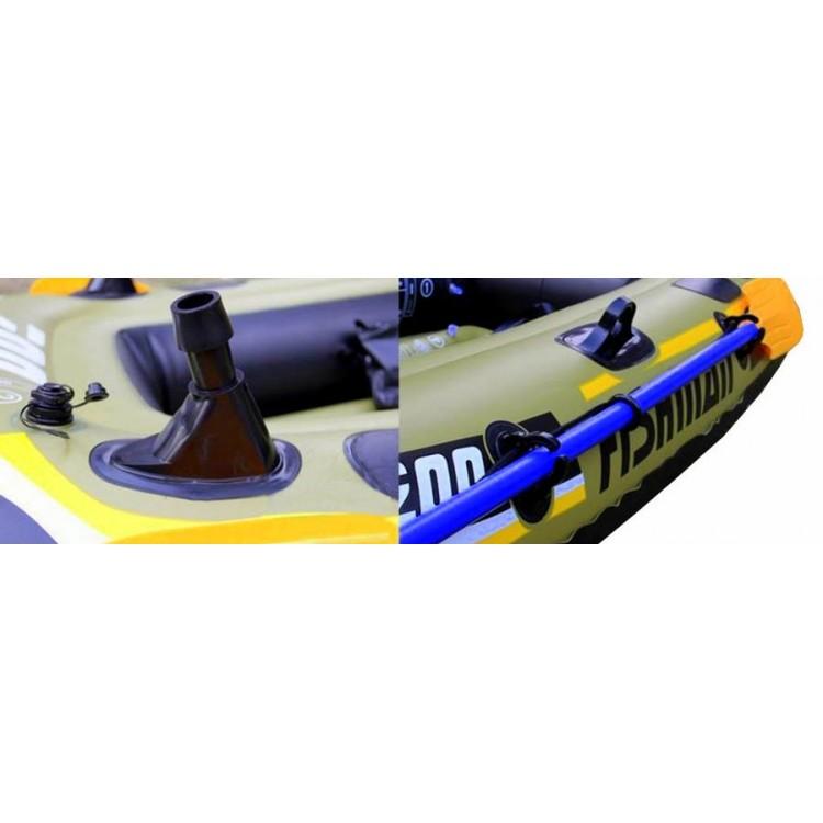 Gommone Tender Canotto Jilong FISHMAN 350 Gonfiabile Cm 305x136 Remi Pompa Inclusi Motorizzabile